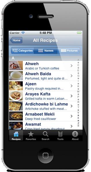 lebanese recipes lebguide s ios android apps lebanese cuisine